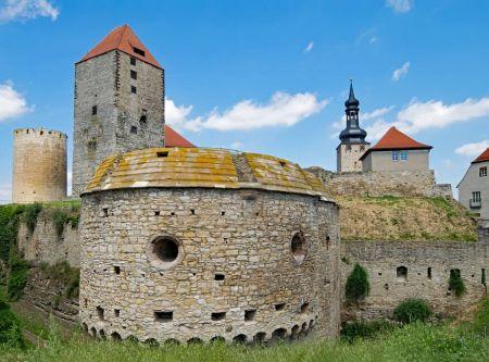 Rundflug Luftaufnahme Burg Querfurt