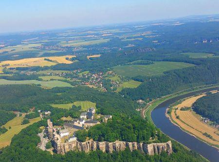 Rundflug Sachsen Festung Königsstein