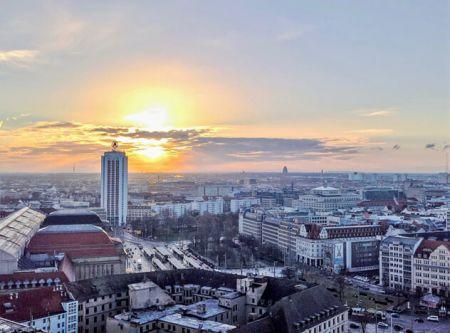 Rundflug Luftaufnahme Leipzig Willy-Brandt-Platz