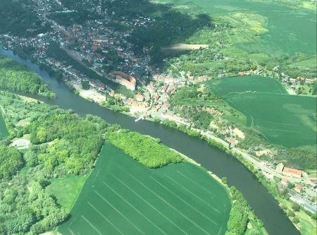 Rundflug Luftaufnahme vom Wettiner Land